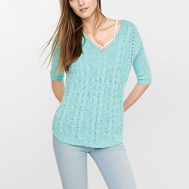 Brand New with Tag EXPRESS Cable Tunic Sweater in Blue