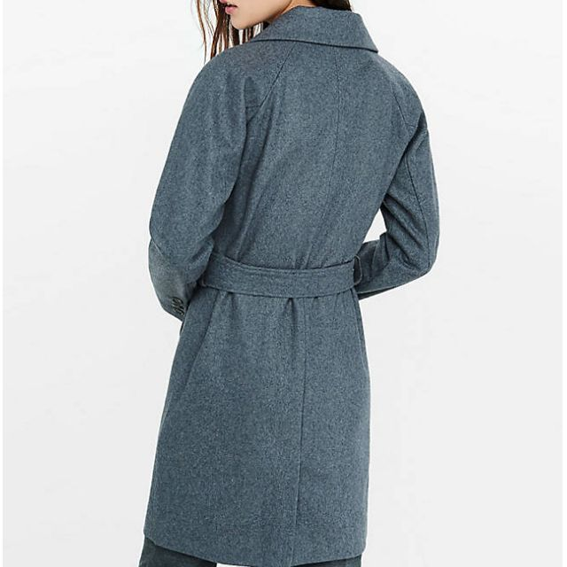 Brand New with Tags Express GREY Wool Blend Trench Coat