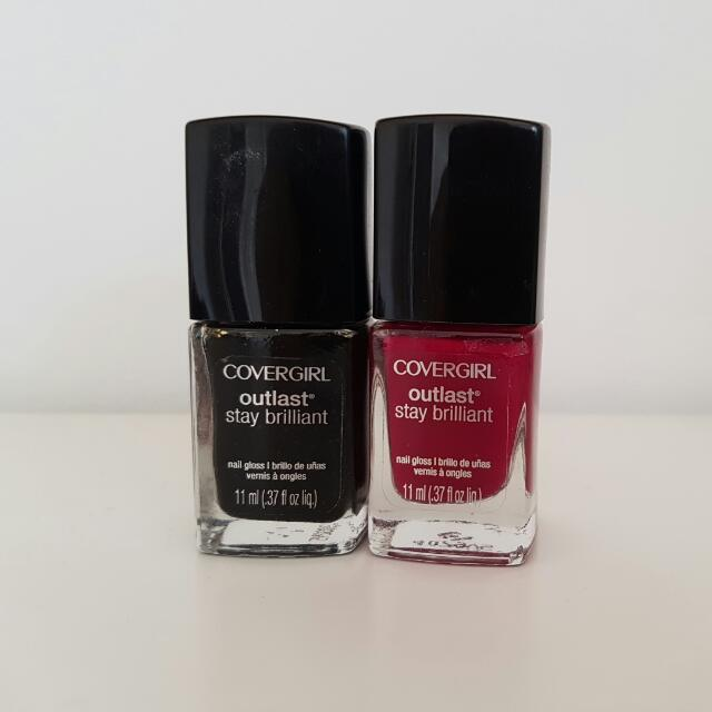 Covergirl Outlast Stay Brilliant Nail Polishes x2