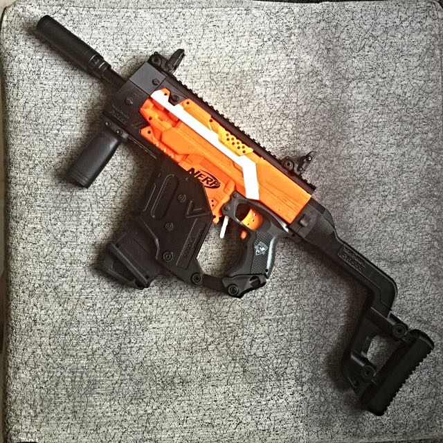 ( Sold )F10555 Kriss Vector Conversion Kit For Nerf Elite Stryfe, Toys &  Games on Carousell