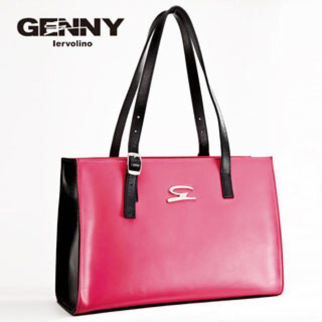 【Genny Iervolino】托斯卡尼牛皮時尚跳色包(粉)