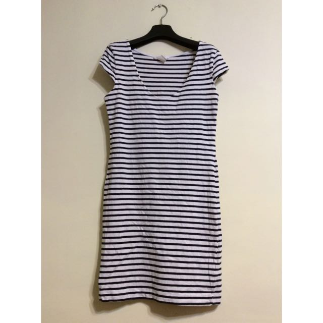 H&M條紋合身洋裝