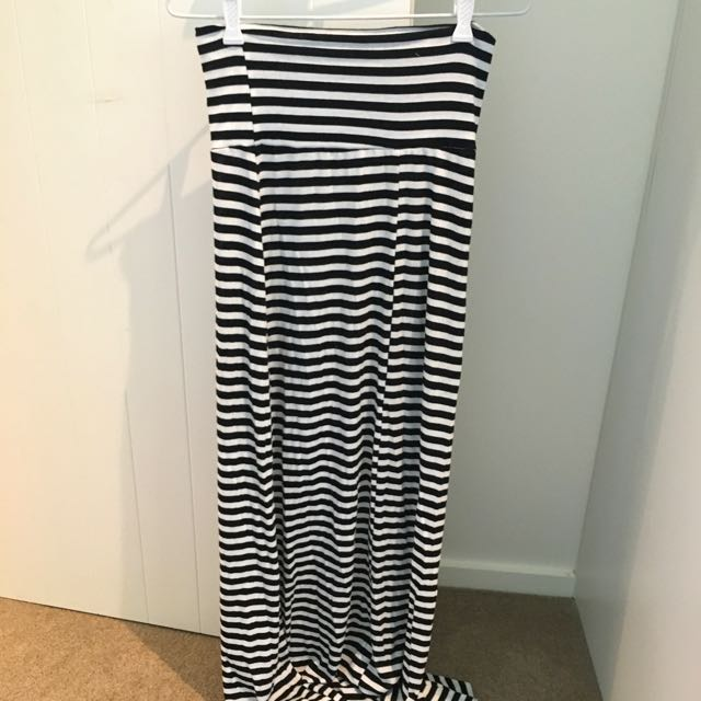 Ice - Long Stripy Skirt Size 8