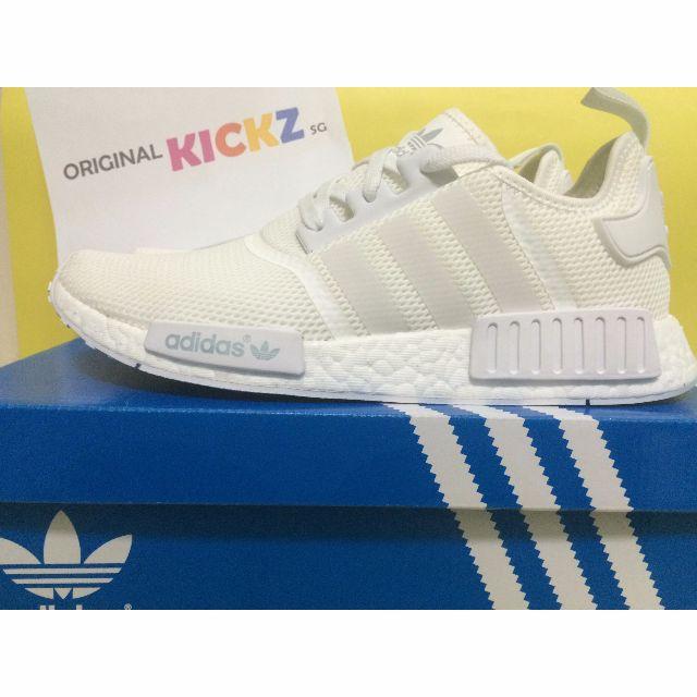 015ff6e2e4e4 INSTOCK Adidas NMD R1 Mesh Monochrome Triple White