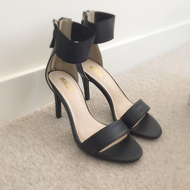 MAKE AN OFFER: Black Ankle Strap Heels