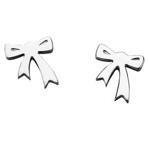 MAKE AN OFFER: Karen Walker Silver Bow Studs
