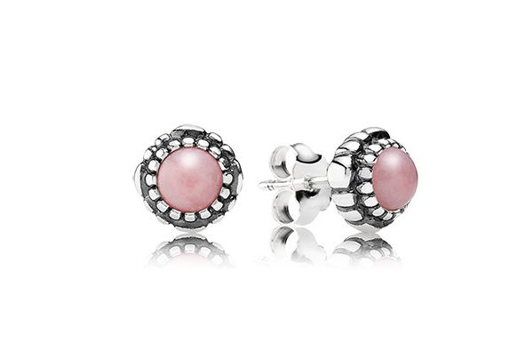 Pandora Pink Opal Earrings
