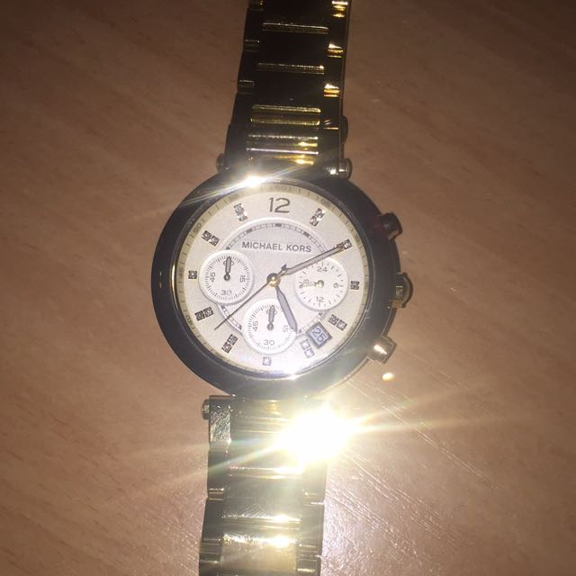 MK Watch Genuine Gold Comes In MK Box