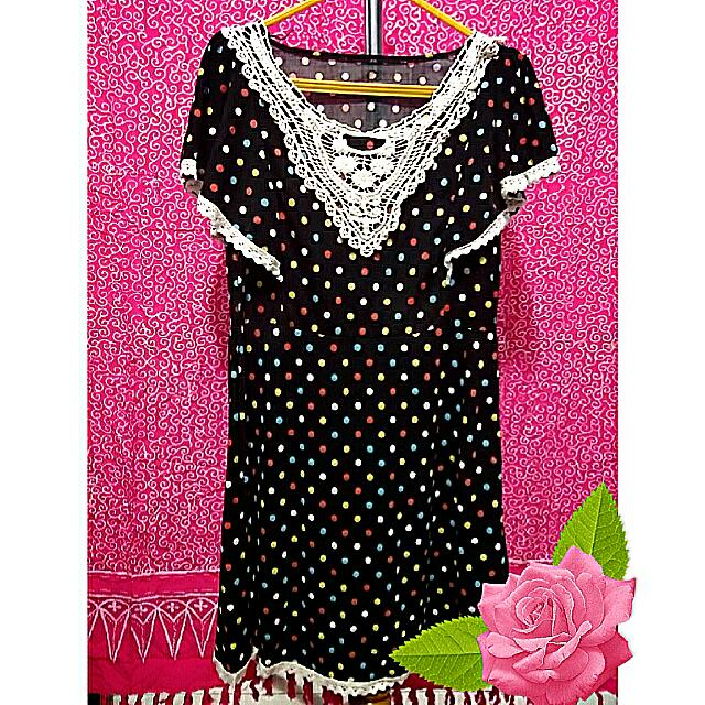 Polka Dress with Lace