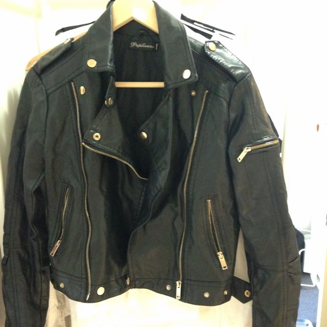 Real Leather Jacket Size Small-Medium