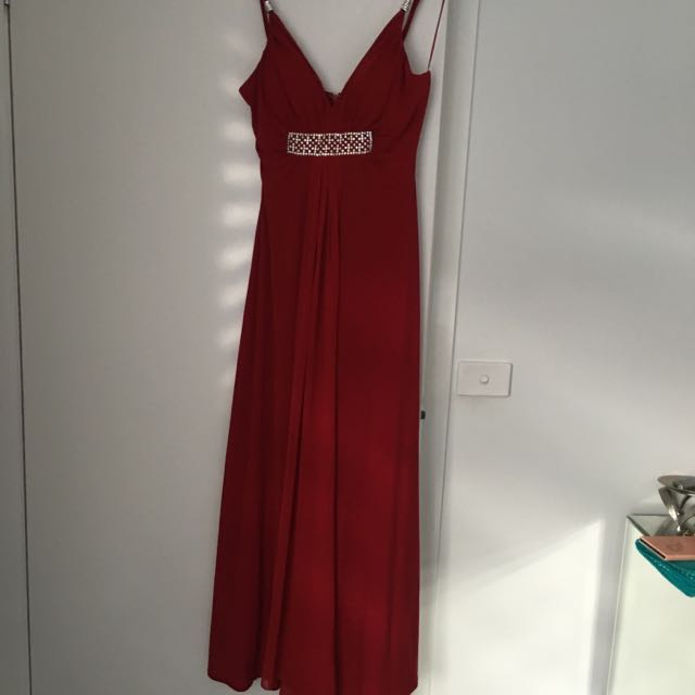Red Floor Gown Size 12