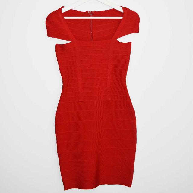 REPLICA Herve Leger Red 'Miranda Kerr' Style Bandage Dress - Size S