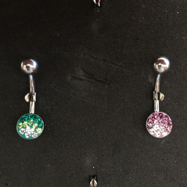 Round Bling Belly Rings