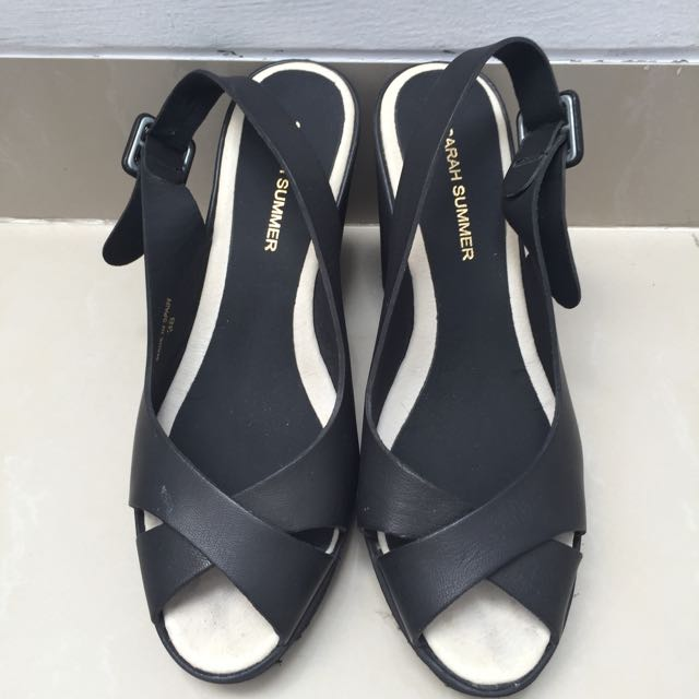 SARAH SUMMER black Wedges