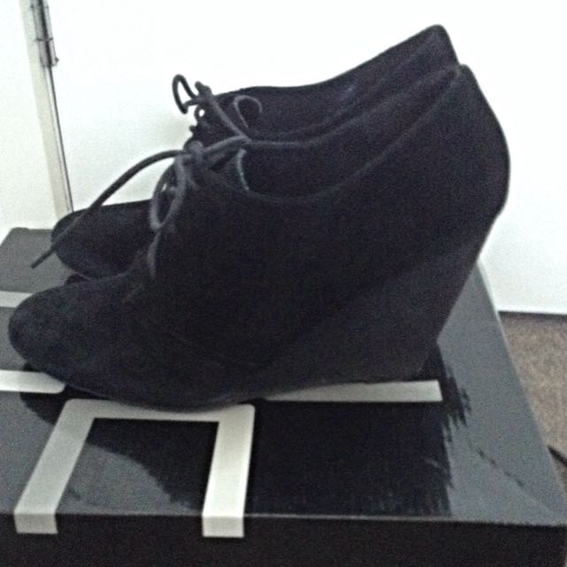 Suede Wedge Shoe
