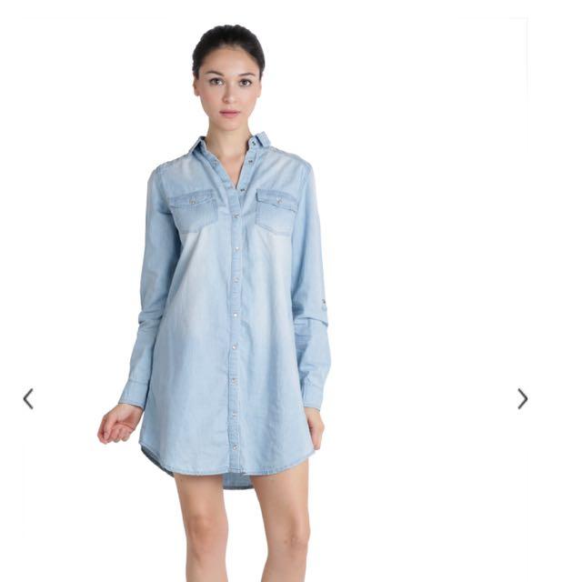 c2998d03ad6 TSR CALVIN DENIM SHIRT DRESS (LIGHT WASH)