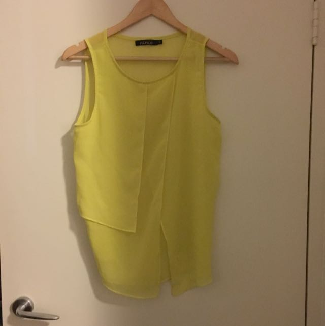 Yellow See Through Top Size S