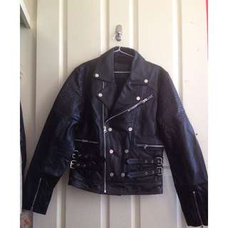 ASOS  XXS Mens 100% Leather Biker Jacket