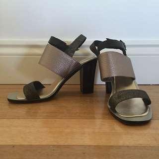 Nude Footwear Metallic Block Heel (size 39, worn once)