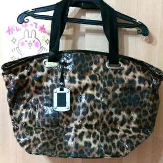 豹紋 肩背包 亮片 包包 手提包