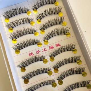 10 Pairs Long n Natural Handmade False Eyelashes/falsies #D21