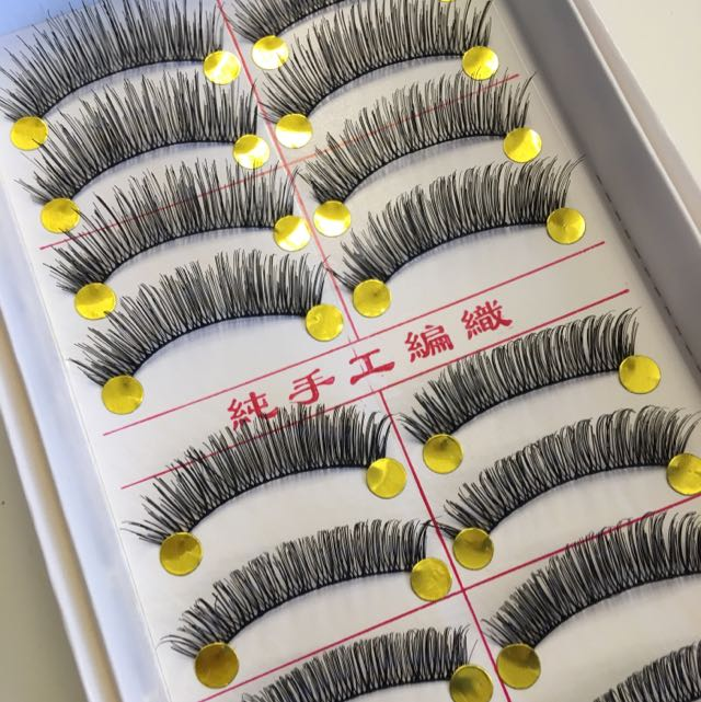 10 Pairs Long n Full Handmade False Eyelashes/falsies #568