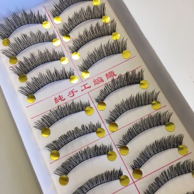 10 Pairs Long n Natural Handmade False Eyelashes/falsies#422