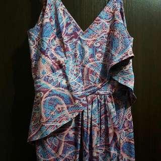 Size8 Sheike Purple And Blue Long Dress