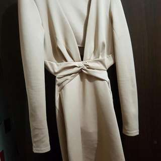 Cream Silk Dress