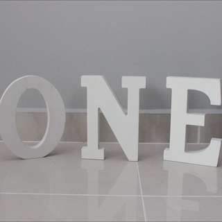 O N E Wooden Alphabet From TYPO