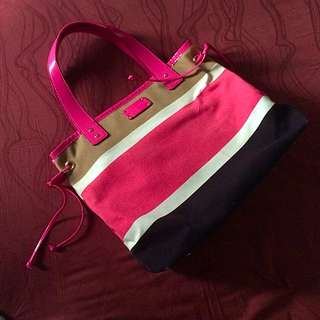 Kate Spade Canvas Pink And Brown Bag