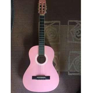 Small Pink Ashton Guitar