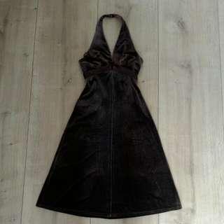 BCBG MAXAZRIA 絨面繞頸洋裝
