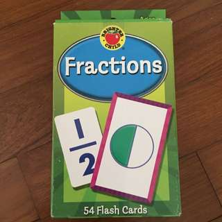 Free Postage BN Fractions Flash Cards