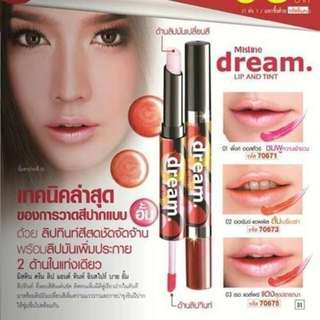 泰國Mistine dream持久保濕滋潤不掉色雙頭咬唇防水唇彩1.5ml