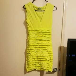 Size 1 Yellow Kookai Dress