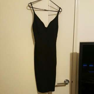 Size XS deep V DRESS Thick Material