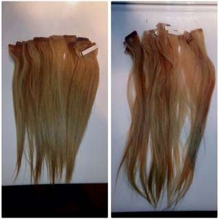 Blonde Tape In Hair Extentions