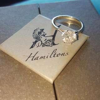 Brilliant Cut White Zirconia Genuine 925 Silver Ring 💍💎