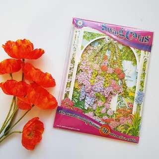 New 3D Hanging Flowers Card