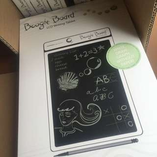 Brand New Boogie Board(White Only) 8.5 Screen. Brand new in box, open to test if all is good and in perfect condition.  We are selling it at $45.00, Brand New In Box.