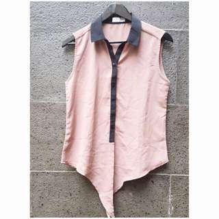Preloved Collar Simply Top
