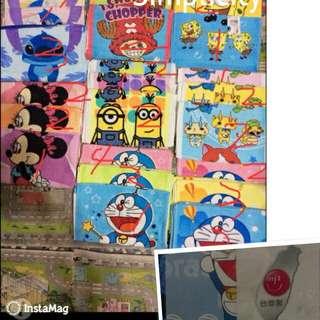 ʕ•ﻌ•ʔ庭庭ʕ•ﻌ•ʔ 卡通毛巾/大小童卡通襪子