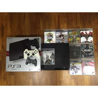 PS3 360GB, 9 Games + 2 Controllers