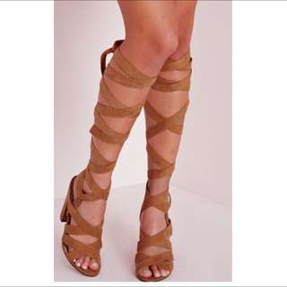 Tan Wrap Around Heel