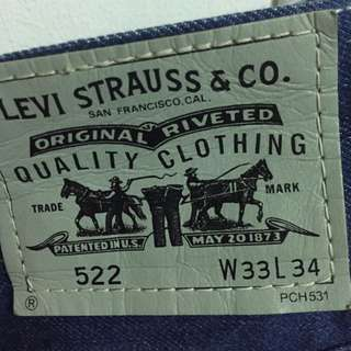 (Price REDUCED)Authentic Levi's Jeans 522