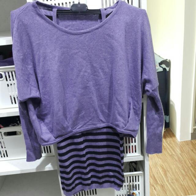 紫背心+紫罩衫