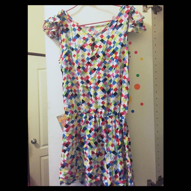 戀愛繽紛 無袖洋裝