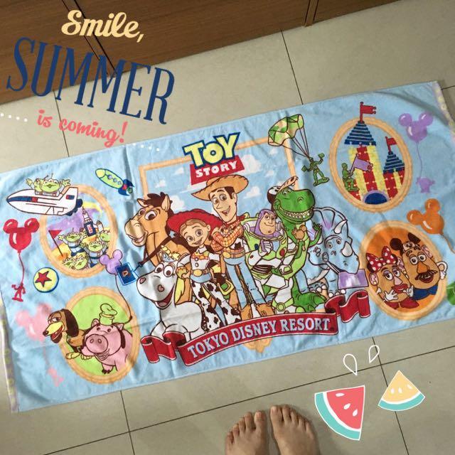 東京連線✨✨迪士尼海洋 玩具總動員 海灘巾 浴巾