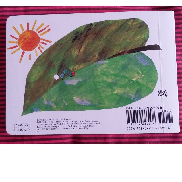 Book for children NEW The very hungry caterpillar (Board Book)